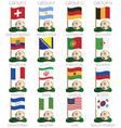 soccer cup icons vector image vector image
