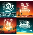 Surfing Colored Composition vector image vector image