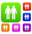 two men gay set collection vector image vector image