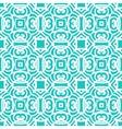 Vintage art deco pattern in aqua blue vector image vector image
