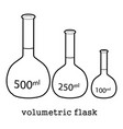 volumetric flask icon outline vector image vector image