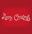 white merry christmas with red background vector image vector image
