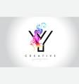 y vibrant creative leter logo design vector image vector image