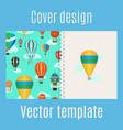 cover with hot air balloons pattern vector image