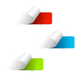 Set of multicolored sticker labels vector image
