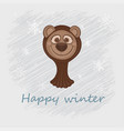 a cute gopher in a brown vector image vector image