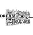 A dream is just a dream or is it text word cloud vector image