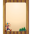 A woodman walking with an axe in front of the vector image vector image