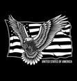 american screaming eagle with stars and stripes vector image