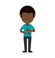 avatar of dark skin man icon image vector image vector image