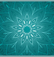 beautiful blue mandala floral background vector image