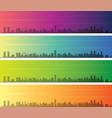 beirut multiple color gradient skyline banner vector image vector image