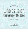 Bible verse from acts vector image