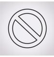 blank ban icon vector image vector image