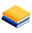 book stack icon isometric style vector image
