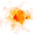 Bright orange geometric shiny background vector image vector image