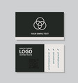 business model name card luxury modern black vector image vector image