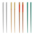 chopsticks for exotic nutrition sushi vector image
