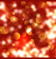 christmas background of bokeh lights and stars vector image vector image
