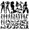 collection of women in bikini vector image vector image
