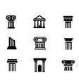 column icon vector image vector image
