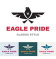 Eagle Pride - Logo in Classic Graphic Style vector image vector image