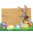 easter background sign vector image vector image