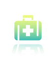 first aid kit icon over white vector image vector image