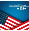 flag usa presidential election graphic vector image vector image