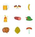 German Republic icons set cartoon style vector image vector image
