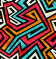 graffiti tribal seamless texture with grunge vector image vector image