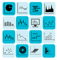Graph and diagram for business icons vector image vector image