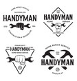 handyman labels badges emblems and design elements vector image