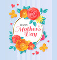 happy mothers day spring papercut flowers vector image