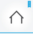 home icon simple car sign vector image vector image