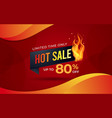 hot sale background template with burning tag vector image
