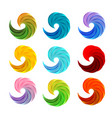 isolated abstract colorful swirl logos set vector image