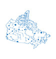 Isolated map of canada