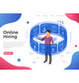 isometric job agency employment and hiring concept vector image vector image