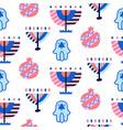 judaism religion symbols seamless pattern vector image