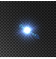 lens flare effect shining star light vector image
