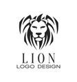 lion logo design element for poster banner vector image vector image