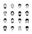 man hairstyle icon set vector image vector image
