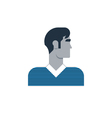 Man side view turned head casual outfit vector image vector image