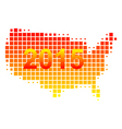 Map of USA 2015 vector image