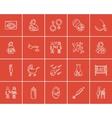 Maternity sketch icon set vector image