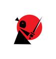 mini samurai logo vector image