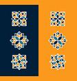 modern professional icon set flower pattern vector image