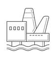 offshore platform line icon vector image