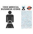 oral sex persons icon with 1300 medical business vector image vector image